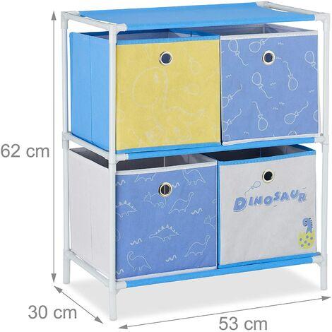 Étagère rangement jouets fillette design meuble chambre d'enfants