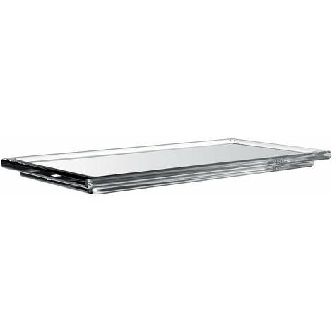 Etagère rectangulaire en verre de liaison Emco pour garde-corps, verre cristal clair, longue - 186600003