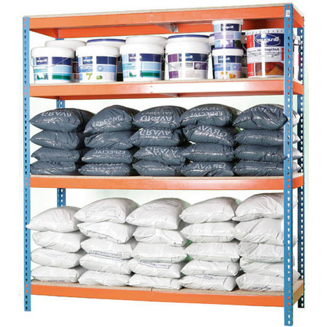 Étagère stockage pour atelier et entrepôt - 4 niveaux (plusieurs tailles disponibles)
