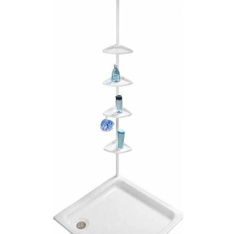 Étagère télescopique Opal, acier blanc