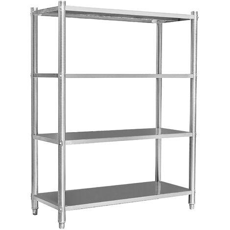 tag res en acier inoxydable meuble pour charge lourde gastronomie v2a cuisine rangement garage. Black Bedroom Furniture Sets. Home Design Ideas