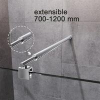 Etagères en verre trempé 8MM-Épaisse Support Mural Triangulaire, étagère murale simple pour cabines de douche, Étagères de rangement de cuisine ELEGANT