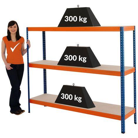 Étagères métalliques – Charge max. par tablette: 300 kg