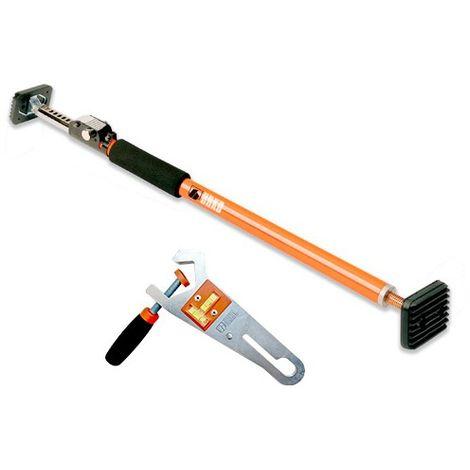 Etai extensible + Support pour niveau laser - 160 à 290 mm charge max 180 Kg à 90° - 1843006 - Urko - -