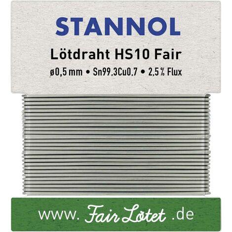 Étain à souder sans plomb Stannol HS10Fair 599114 Sn99,3Cu0,7 sans plomb 10 g 0.5 mm 1 pc(s) Q714462