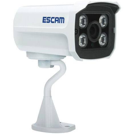 Etanche 1080P Poe Securite Electrique Camera Sur Ethernet Surveillance Exterieure Camera Ip Avec Detection De Mouvement De Vision Nocturne Prise En Charge Onvif, Blanc