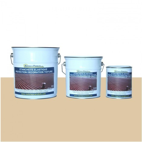 Etanchéité Elastique Protection Décoration Toiture Jaune Sahara