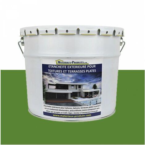 Etanchéité Extérieure pour Toitures, Balcons et Terrasses Plates VERT GAZON RAL 6010