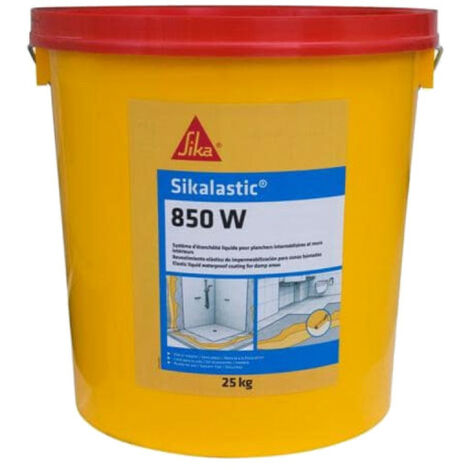 Etanchéité sous carrelage - revêtement pour pièces humides - Sikalastic 850W - Jaune paille - 25kg - Jaune