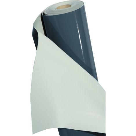 Étanchéité synthétique PVC fixation mécanique FLAGON SR12 FR M2 RAL7012 25x1,6m