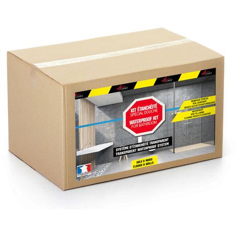 Etancheite Transparente Douche Salle De Bain Sur Carrelage En Kit Arcane Industries Transparent Kit De 2m2 264 25892