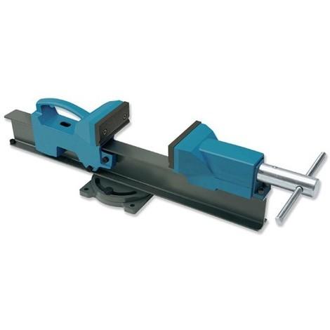 Etau d'établi base rotative grandes capacités 350 mm de serrage et mors 110 mm - UR-1558351 - Urko - -