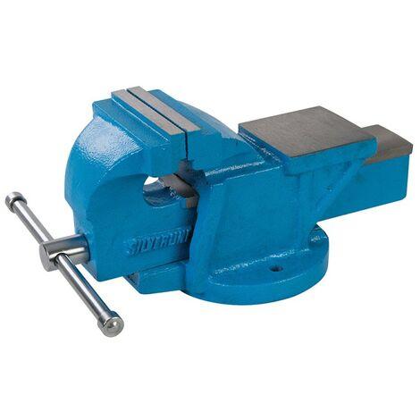 """Étau d'ingénieur à base pivotante, 100 mm (4"""") Capacité de la mâchoire : 120 mm / 8 kg"""