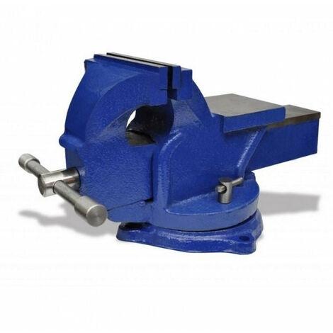 Étau en fonte 125 mm rotatif 360° mors en acier avec enclume pour établi - Or