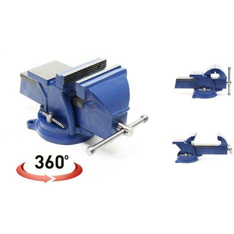 Étau pour établi 200 mm + plateau enclume - rotatif 360