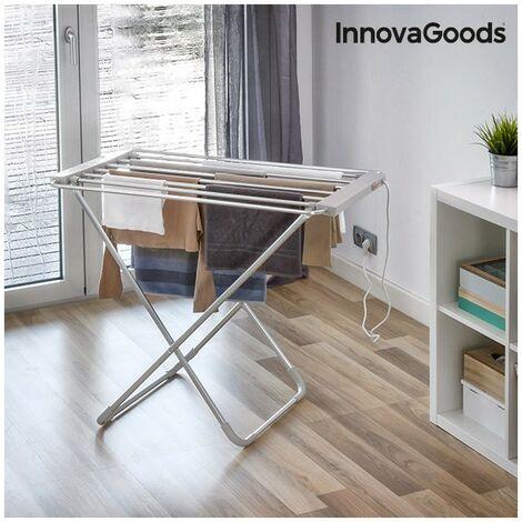 tendoir linge lectrique pliable innovagoods 100w gris. Black Bedroom Furniture Sets. Home Design Ideas