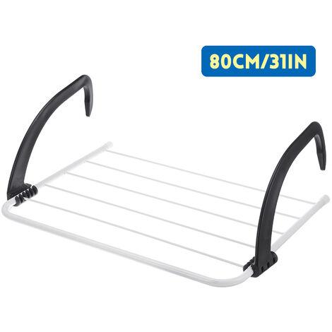 Etendoir Support Porte-vêtements sèche-linge radiateur balcon chauffage sèche-linge 80x33.5x17.5cm
