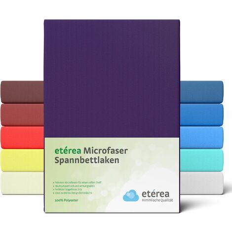 etérea Microfaser Spannbettlaken Pflaume, 100x200 - 120x200 cm