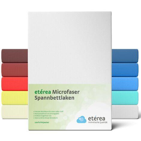 etérea Microfaser Spannbettlaken Weiss, 100x200 - 120x200 cm