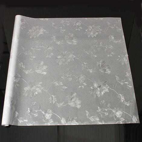 Etiqueta de la película 3D Hibiscus Pattern Window Vidrio translúcido 60X100Cm LAVENTE
