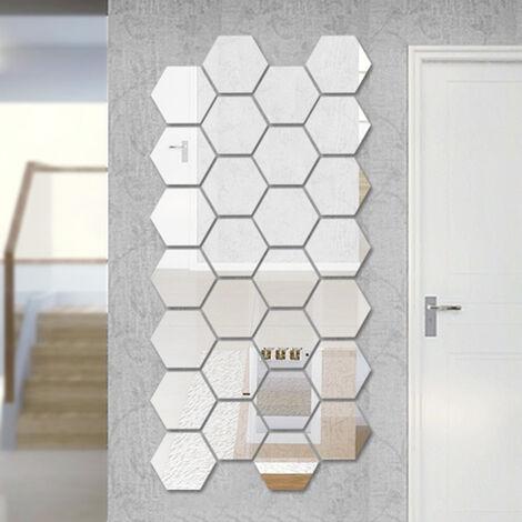 Etiqueta engomada tridimensional de la pared del espejo, etiqueta engomada decorativa del espejo de la personalidad