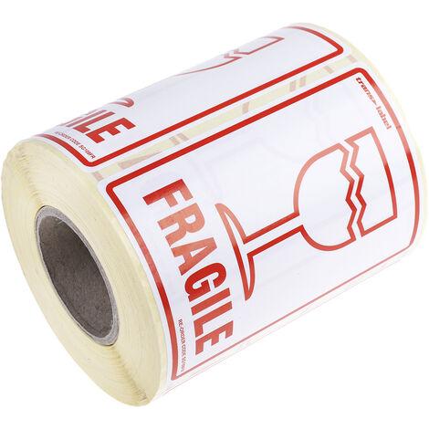 """Etiquette, avec pictogramme : Danger général """" Fragile """""""