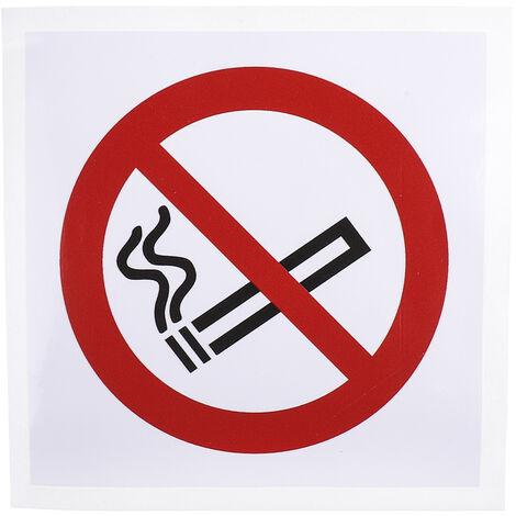 """main image of """"Panneau, avec pictogramme : Défense de fumer """"Aucun"""""""""""