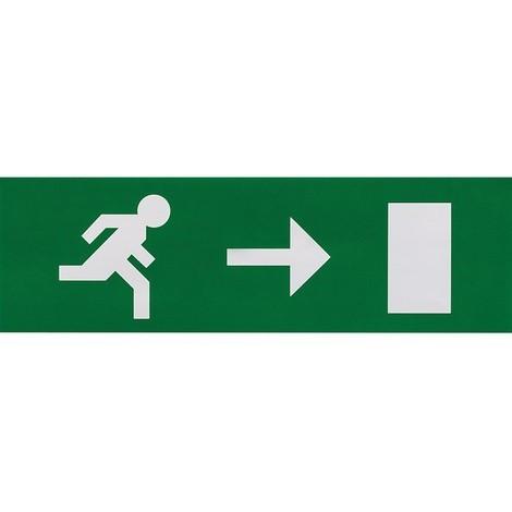Etiquette de signalisation adhésive pour bloc lumineux LUMINOX