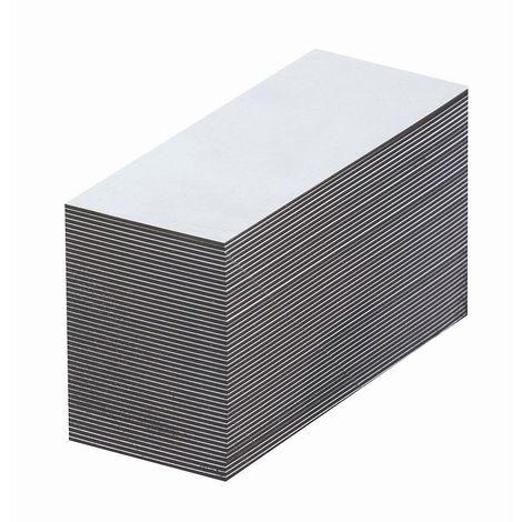 Etiquettes magnétiques - blanches - h x l 10 x 80 mm, lot de 100