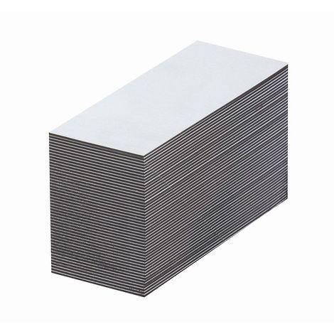 Etiquettes magnétiques - blanches - h x l 20 x 80 mm, lot de 100