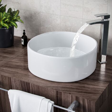 """main image of """"Etive 410mm Clokaroom Round Stand Alone Counter Top Basin Sink Bowl"""""""