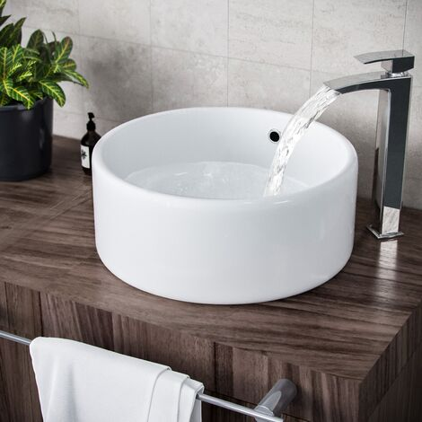 Etive Stand Alone Round Counter Top Basin Sink Bowl