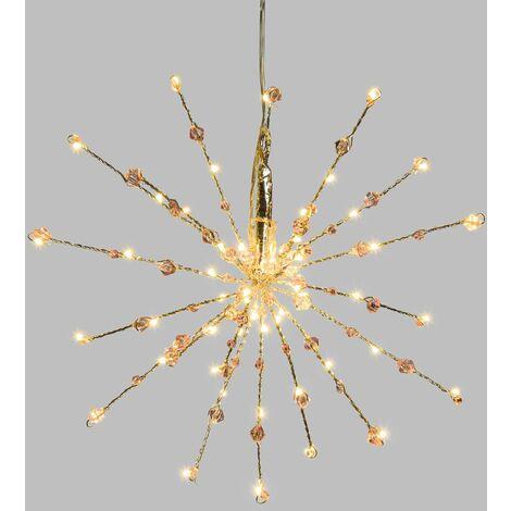 Etoile branches lumineuses à suspendre - Diam. 30 cm - Argent - Argent