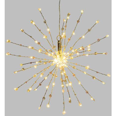 Etoile branches lumineuses à suspendre - Diam. 40 cm - Argent - Argent