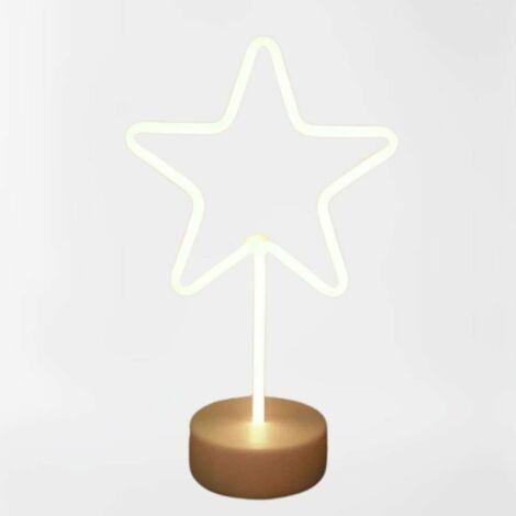 Étoile lumineuse blanche à poser