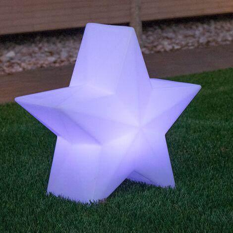 Étoile lumineuse d'extérieur MOOVERE 45cm Outdoor Solaire+Batterie rechargeable LED/RGB