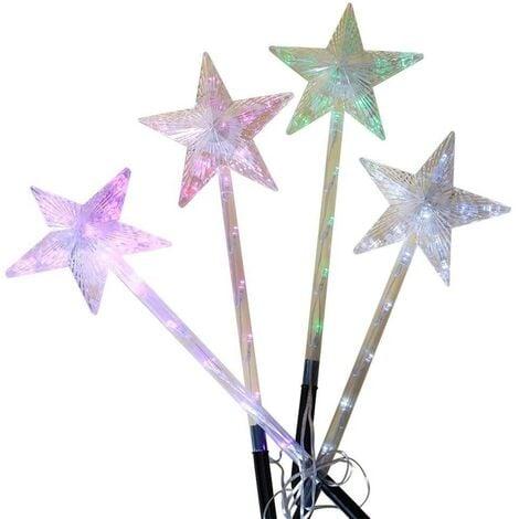 Étoiles lumineuses solaires à planter x4