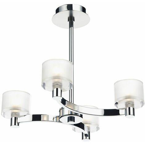 Eton ceiling light polished chrome and glass 4 bulbs