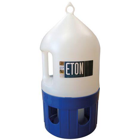 ETON Plastic Pigeon Drinker (5 Litres) (White/Blue)