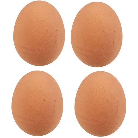 ETON Rubber Bantam Egg (Pack of 4) (One Size) (May Vary)