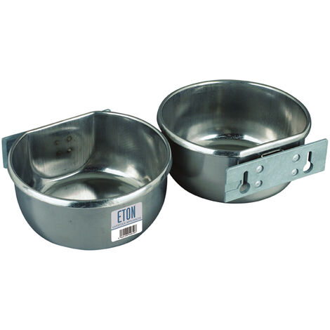 Eton Stainless Steel D-Cup with Bolt-On Mounting Plate Kit (850ml) (Silver)
