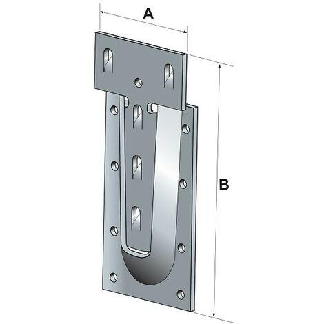 Étrier à queue d'aronde en acier SIMPSON - A65xB130xC12 - ép.3 mm - ETSN130