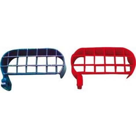 Etrier de protection de manomètre, Modèle : bleu (oxygène)