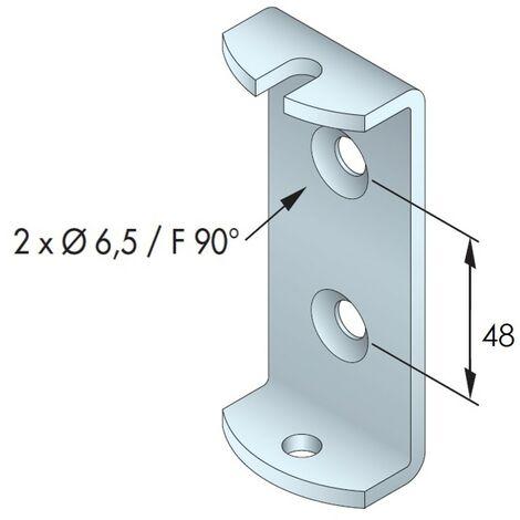 ETRIER SUPPORT MOTEUR T5 72X30 2F6.5 ENT48