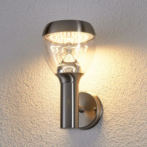 Etta LED outdoor wall light made of stainl. steel