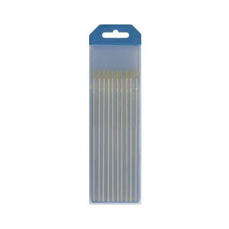 Etui de 10 électrodes GYS tungstène Lanthane WL15 Ø 1,6 - Or (AC/DC) - 045330