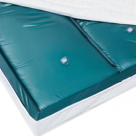 EU King Waterbed Mattress 5ft3 Dual Blue Vinyl Full Wave Reduction