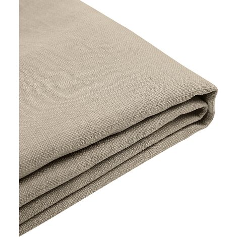 EU Super King 6ft Bed Frame Additional Cover Fabric Upholstery Beige Fitou