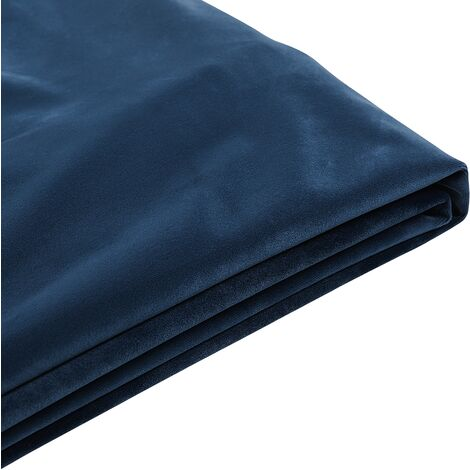 EU Super King 6ft Bed Frame Additional Cover Velvet Upholstery Blue Fitou
