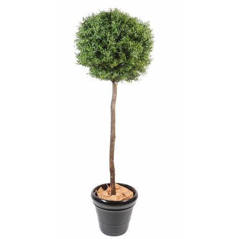 Eucalyptus artificiel PLAST TIGE (110 cm) Haut de Gamme Eucalyptus Intérieur / Extérieur Arbres artificiels - VERT